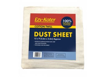 Ezy-Koter Cotton Dust Sheet - 3.6m X 2.6m