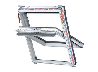 Keylite Top Hung Fire Escape Thermal Roof Window 780 x 1180mm White Painted WFFE05T