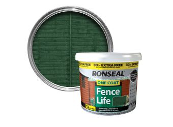 RONSEAL FENCELIFE FOREST GREEN 9LTR + 33% EXTRA FREE