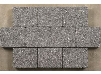 Sienna Paving Brick Pack Graphite100x100x50mm - 0.96 Sqm Per Pack