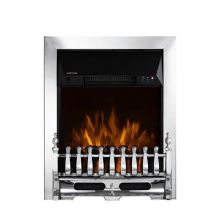 This Warmlite Whitby Electric Chrome Electric Fire Inset With Remote Control 2Kw has 2 heat settings 1000w and 2000w