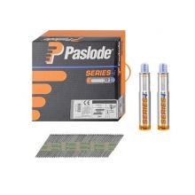 Paslode Straight Brad Nails 63mm Box of 2000 & 2 Gas