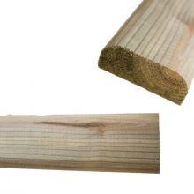 D-Shaped Timber Hand Rail - 100mm X 35mm X 3.6m