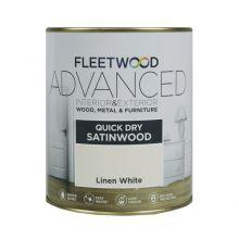 Fleetwood Advanced Satinwood Paint Designer White 750ml
