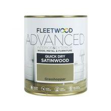 Fleetwood Advanced Satinwood Paint Grasshopper 750ml