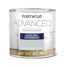Fleetwood Advanced Satinwood Paint Meteor Dust Grey 750ml