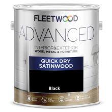 Fleetwood Advanced Satinwood Paint Black 750ml