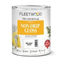 Fleetwood Non-Drip Gloss White Paint Brilliant White 2.5L