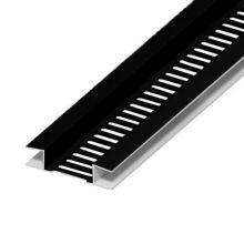 PVC Black Soffit Ventilation Strip 80mm