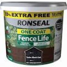 RONSEAL FENCELIFE TUDOR BLACK 9LTR + 33% FREE