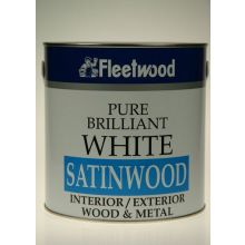 Fleetwood Satinwood Brilliant White Oil Based 2.5L
