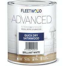 Fleetwood Advanced Quick Dry Satind Wood 5L