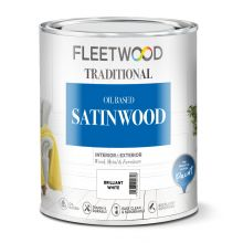 Fleetwood Traditional Satinwood Brilliant White 1L