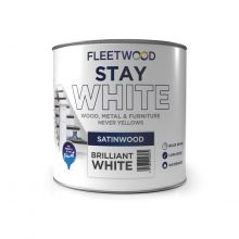 Fleetwood Satinwood Stay White 750ml